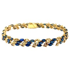 High Karat Gold Sapphire Diamond Bracelet