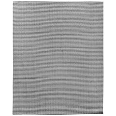 High Low Gray Indian Wool Area Rug