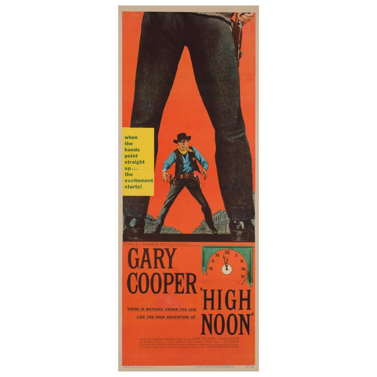 High Noon, US Film Poster, 1952 For Sale