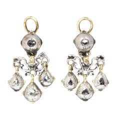 High Quality 18 Century Baroque Diamond Earrings, 1700s