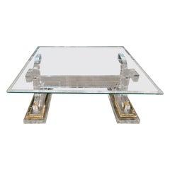 High Quality Acrylic Coffee/Sofa Table with Glass Top