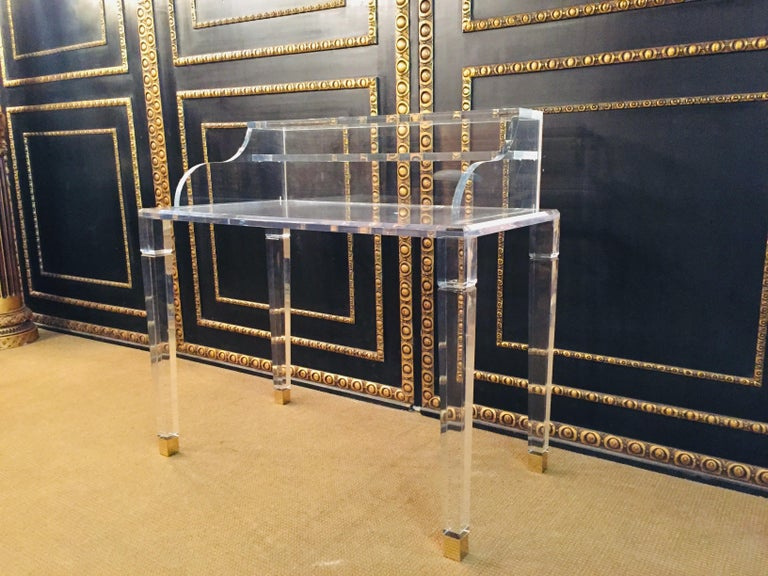 High Quality Acrylic Desk Stands on 4 High Legs For Sale 3