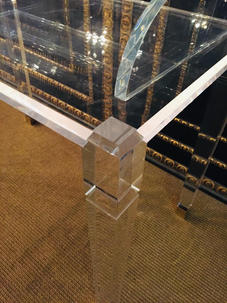 High Quality Acrylic Desk Stands on 4 High Legs For Sale 4