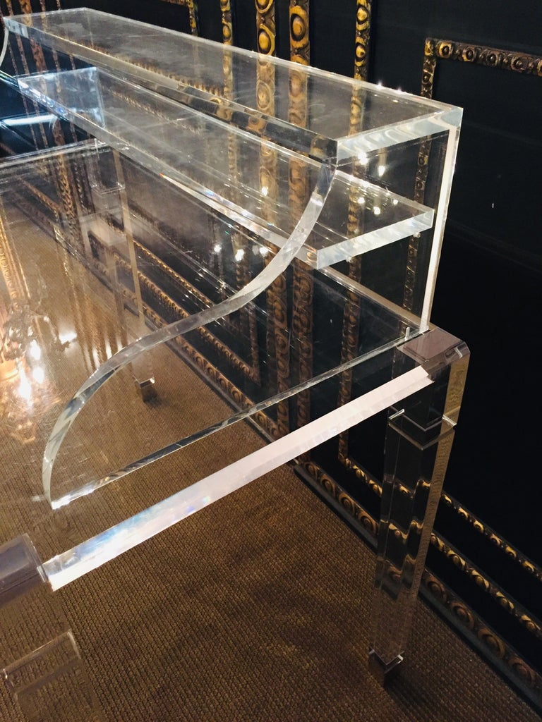 High Quality Acrylic Desk Stands on 4 High Legs For Sale 5