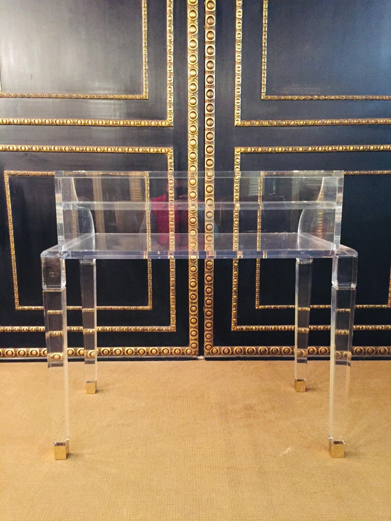 High Quality Acrylic Desk Stands on 4 High Legs For Sale 6