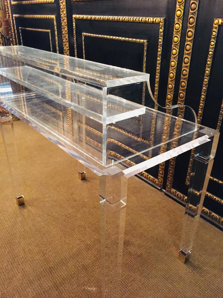 High Quality Acrylic Desk Stands on 4 High Legs For Sale 7