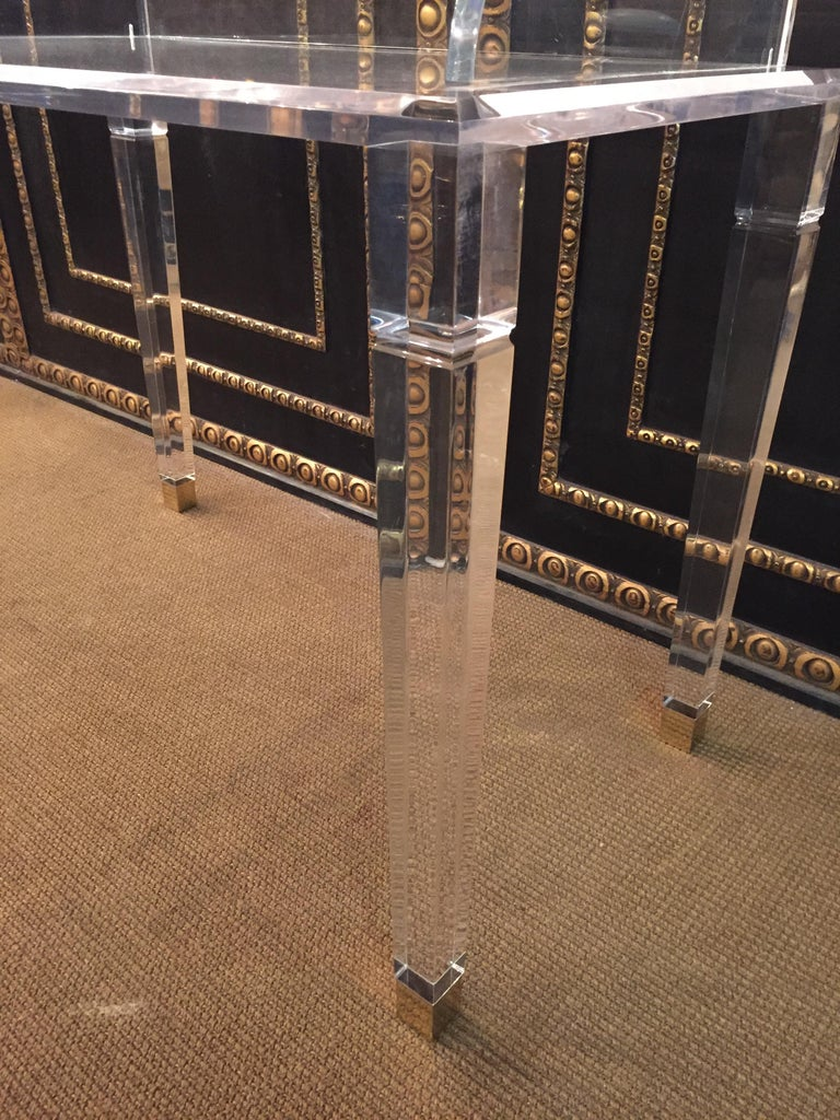 Italian High Quality Acrylic Desk Stands on 4 High Legs For Sale