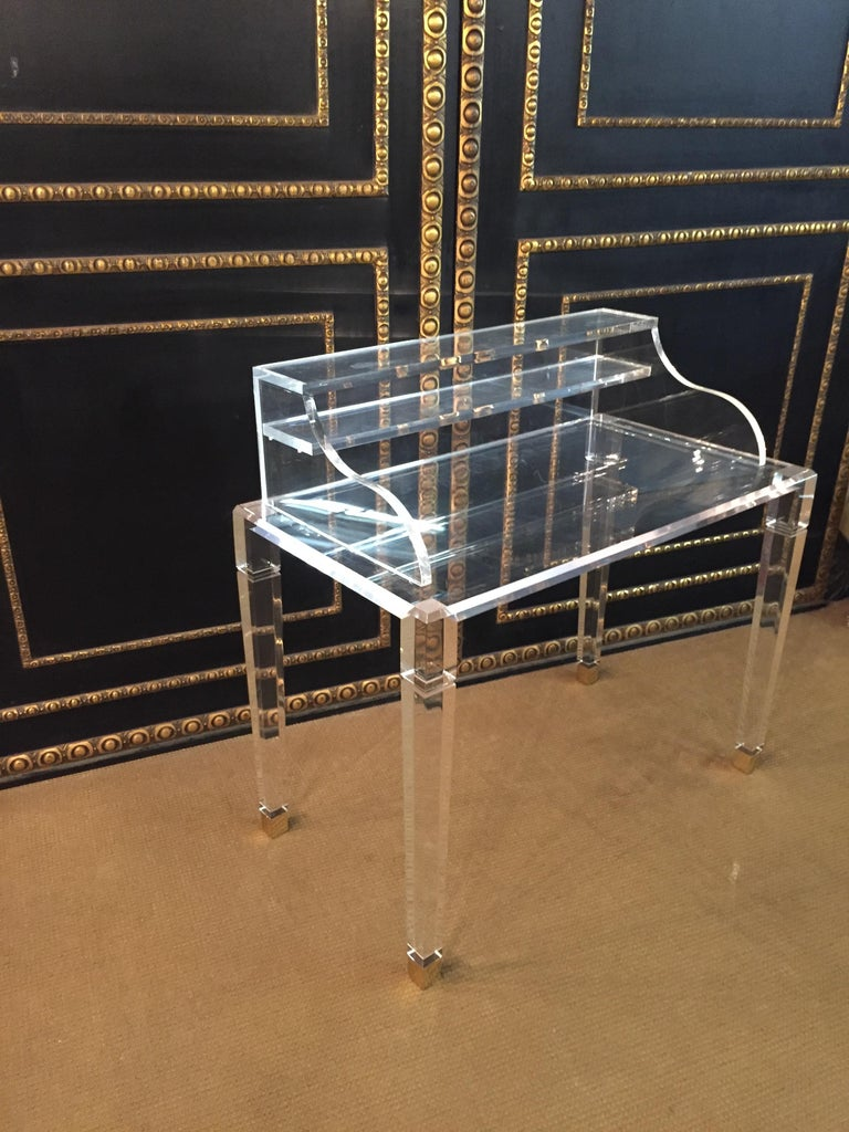 20th Century High Quality Acrylic Desk Stands on 4 High Legs For Sale