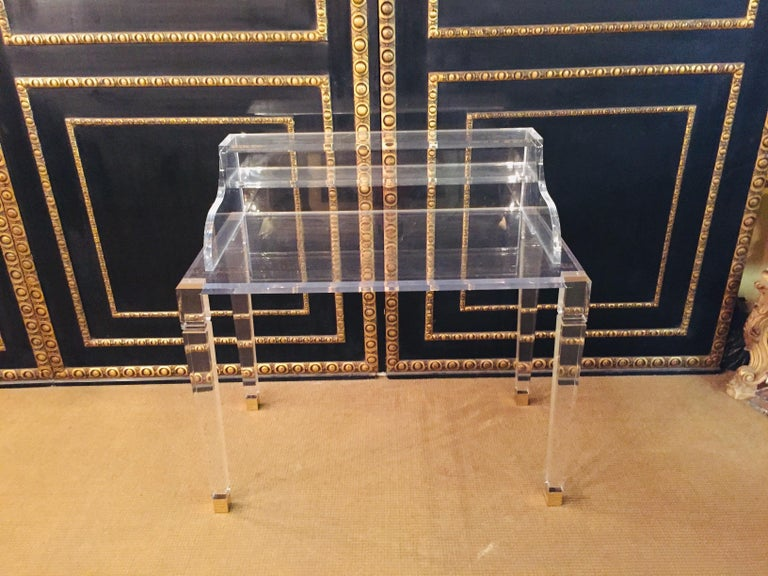 High Quality Acrylic Desk Stands on 4 High Legs For Sale 1
