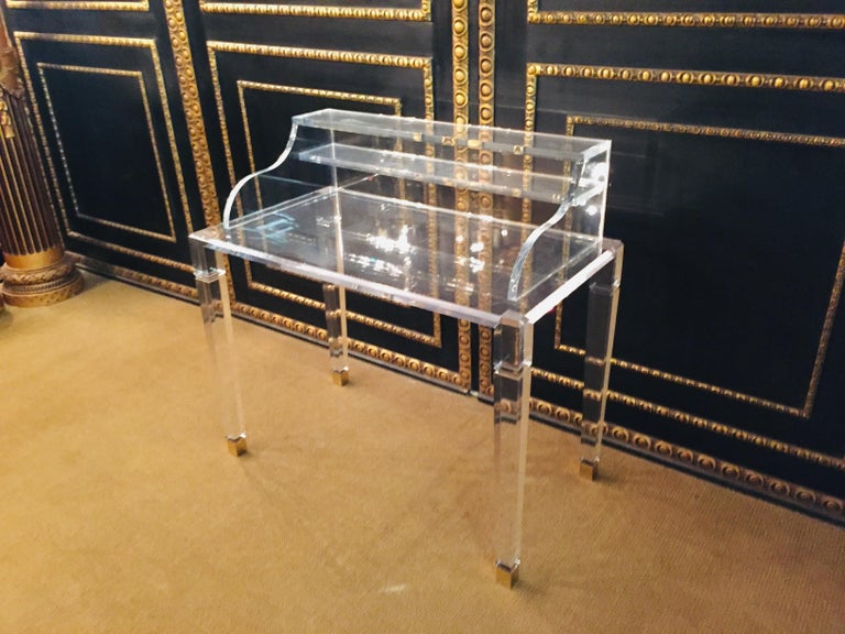 High Quality Acrylic Desk Stands on 4 High Legs For Sale 2