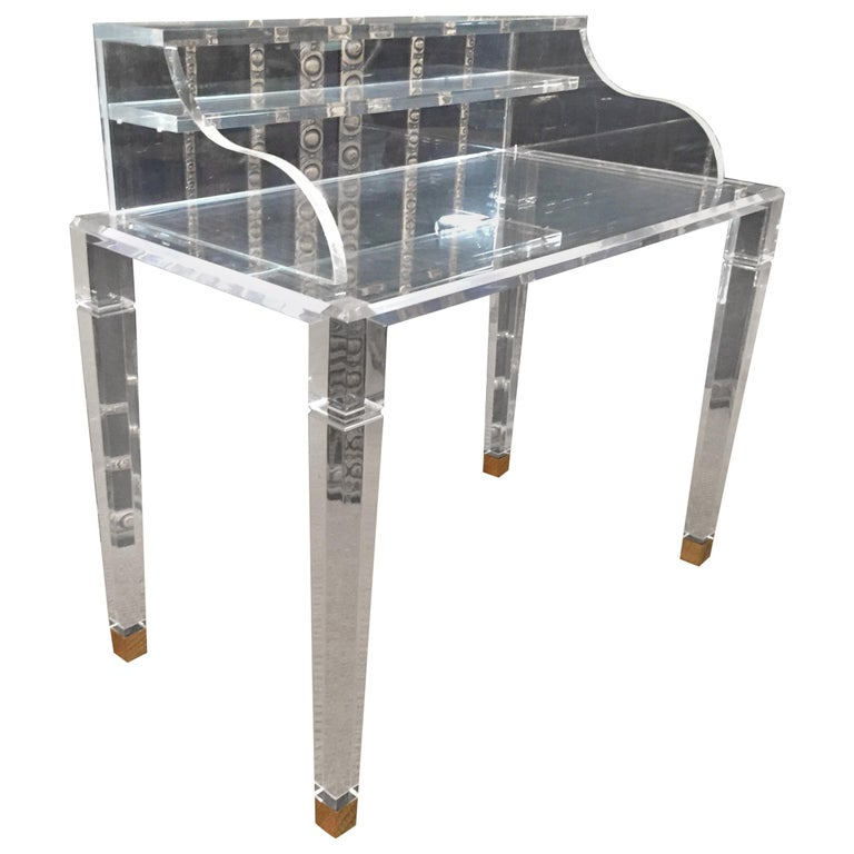 High Quality Acrylic Desk Stands on 4 High Legs For Sale