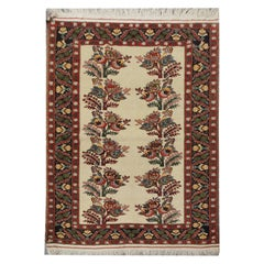 High-Quality Antique Karabagh Rug, Handwoven Floral Repeat Pattern Large Rug