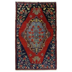 High-Quality Antique Rug Caucasian Carpet Rug, Traditional Living Room Rug Sale