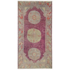 High-Quality Antique Rug Oriental Khotan, Pastel Colored Living Room Rugs