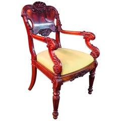 High-Quality Armchair, Russia, circa 1830 Solid Mahogany