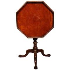 High Quality Carved Mahogany Chippendale Style Tripod Table