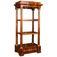Unique High Quality, Elegant Étagère Shelf in Biedermeier Style