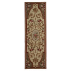 High Quality Floor Rug Carpet Runner Beige Aubusson Runner Rugs, Flat-Weave Rug
