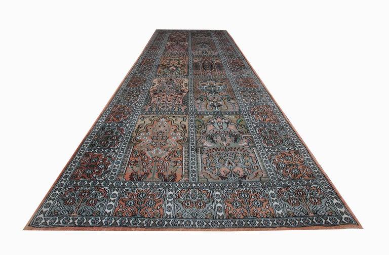Vegetable Dyed High Quality Floor Silk Rug Carpet Runner Rust Pink Rugs, Chinese Herekeh Rug For Sale