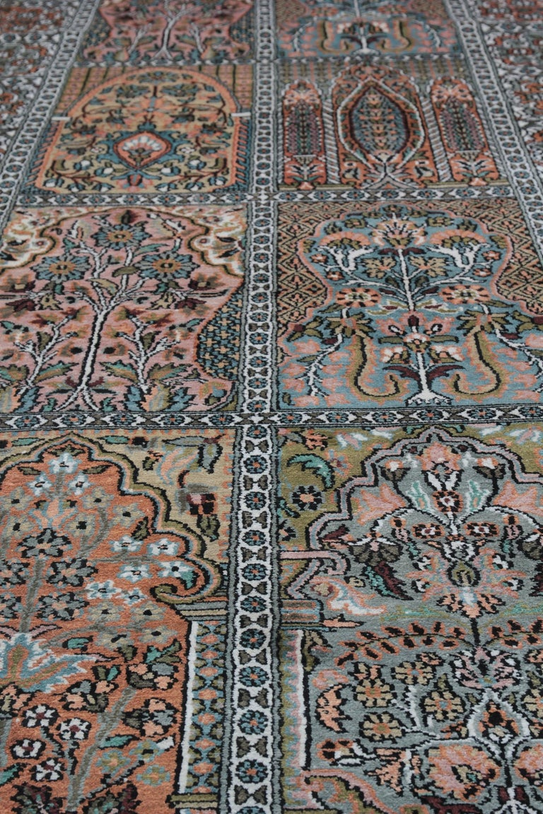 High Quality Floor Silk Rug Carpet Runner Rust Pink Rugs, Chinese Herekeh Rug In New Condition For Sale In Hampshire, SO51 8BY