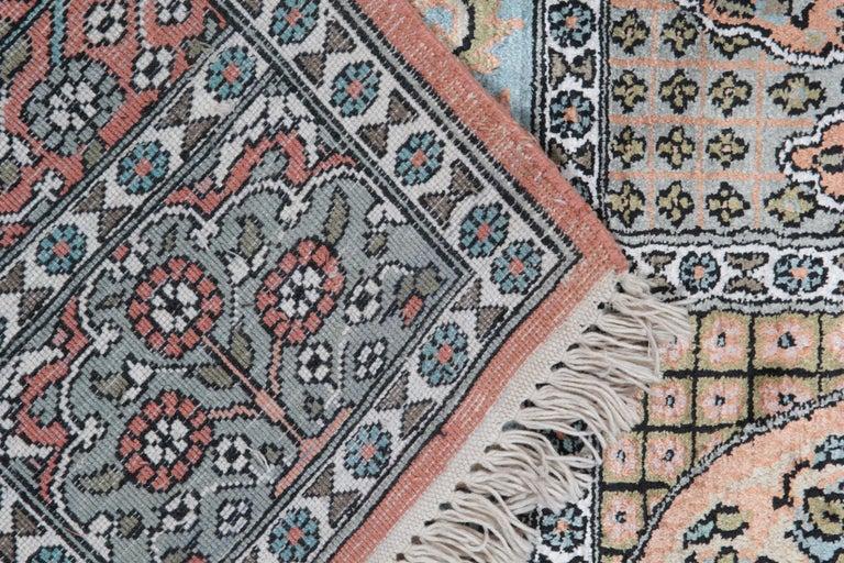 Contemporary High Quality Floor Silk Rug Carpet Runner Rust Pink Rugs, Chinese Herekeh Rug For Sale