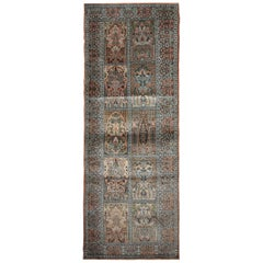 High Quality Floor Silk Rug Carpet Runner Rust Pink Rugs, Chinese Herekeh Rug