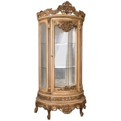 High Quality French Vitrine in the Louis Quinze Style