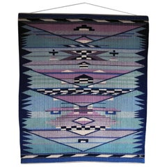 High Quality Handwoven Danish Tapestry from the 1980s