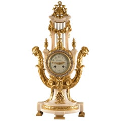 High Quality Large French Pendulum with Stone Wreath, circa 1900