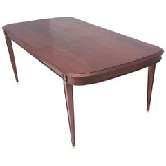High-Quality Mahogany Extendible Dining Table Produced by Provasi, Italy, 1980s