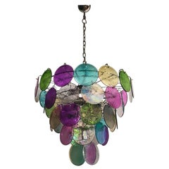 High Quality Murano Chandelier Space Age, 50 Multicolored Glasses