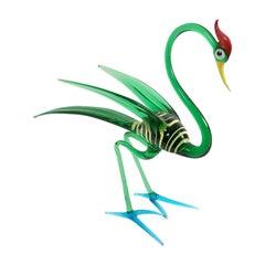High-Quality Murano Glass Bird Decorative Item, Italy
