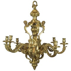 High Quality of Regence Style Gilt-Bronze Chandelier, circa 1900
