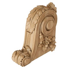 High Quality Ornate Oak Corbel for Trim, Custom Carved Wood Bracket