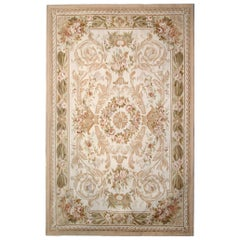 High Quality Rug Patterned Area Aubusson Rug Needlepoint Flat-Weave Carpet
