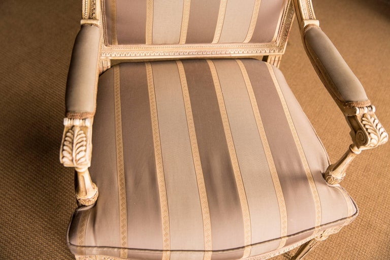 High Quality Seating Furniture,Sofa  and Two Armchairs in the Louis Seize Style For Sale 1