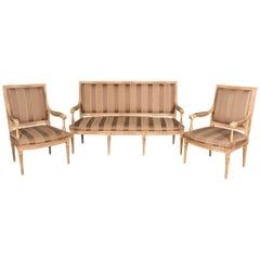 High Quality Seating Furniture Suite and Two Armchairs in the Louis Seize Style