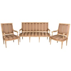High Quality Seating Furniture,Sofa  and Two Armchairs in the Louis Seize Style