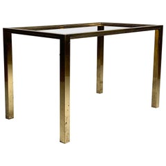 High Quality Vintage Petite Brass Coffee Table Attributed to Jansen