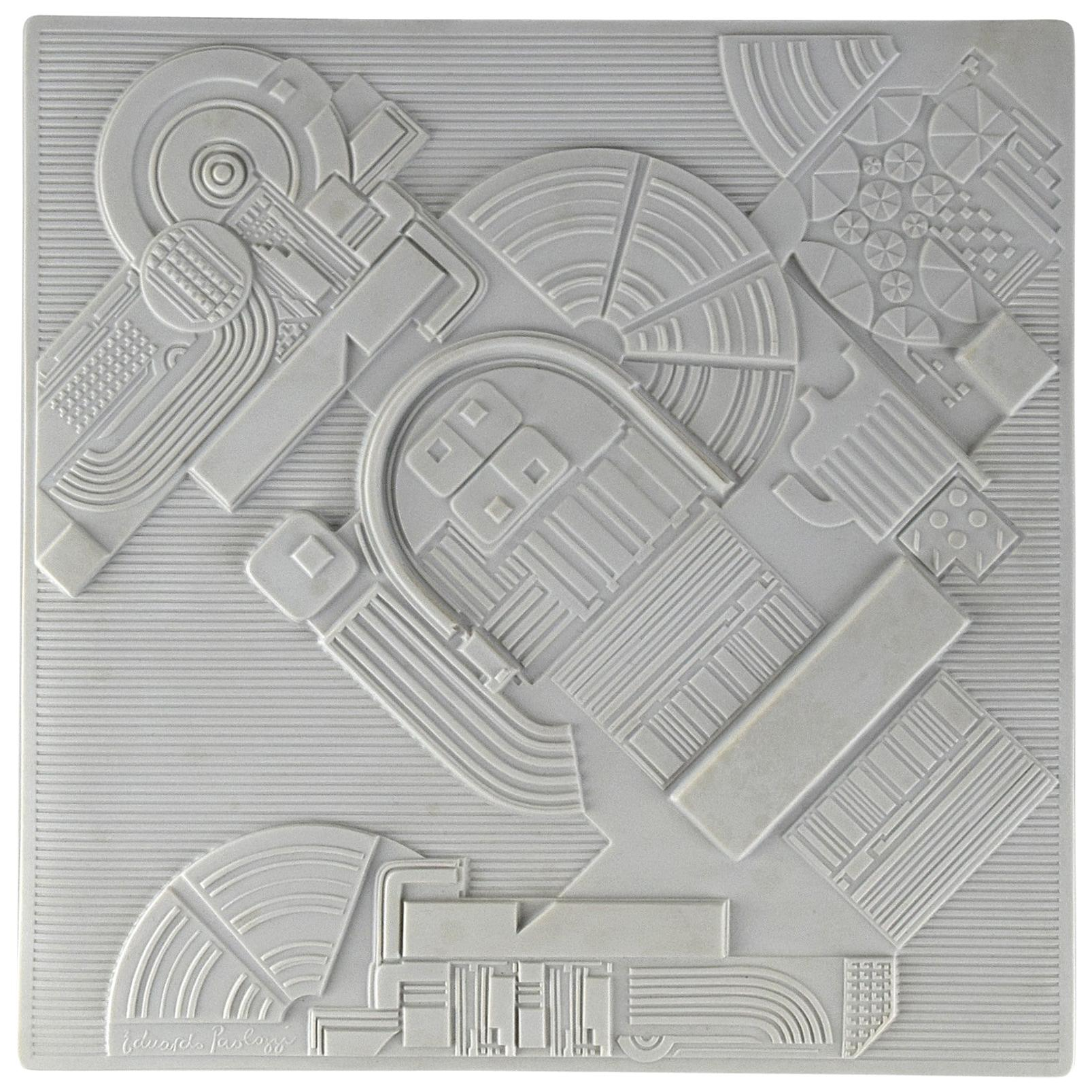High Relief Porcelain Wall Sculpture by Eduardo Paolozzi for Rosenthal 1978
