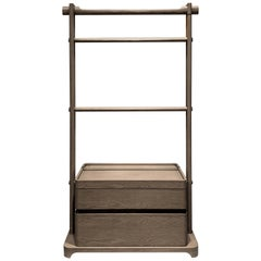 High Scarf Stand Interlock André Fu Living Grey Oak Modern Cabinet New
