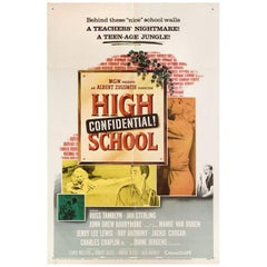 'High School Confidential!' 1958 U.S. One Sheet Film Poster