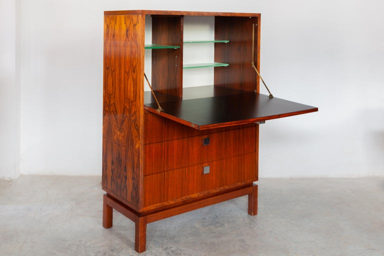 Belgian High Side-Board with Mini Bar by Alfred Hendrickx for Belform, Belgium, 1960's