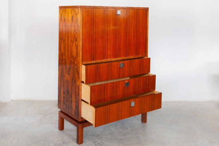High Side-Board with Mini Bar by Alfred Hendrickx for Belform, Belgium, 1960's In Good Condition In Antwerp, BE