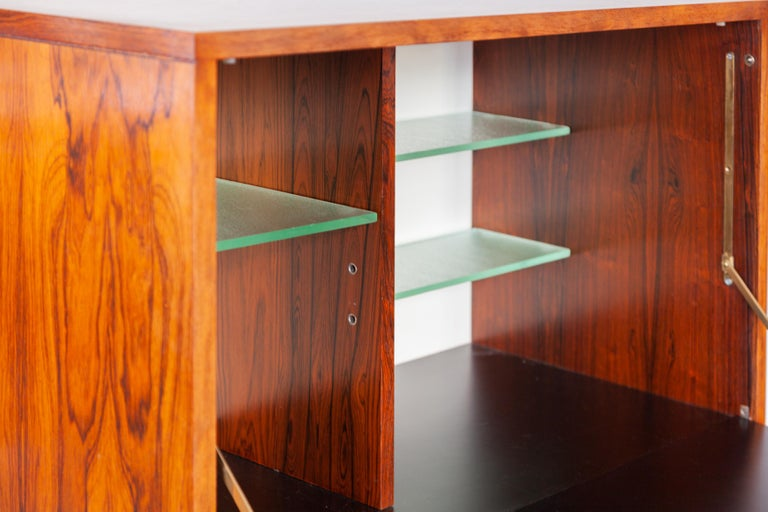 Wood High Side-Board with Mini Bar by Alfred Hendrickx for Belform, Belgium, 1960's