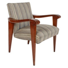 High Style French Deco Sculpted Arm Occasional Chair