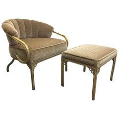 "High Style John Van Koert ""Cymbal"" Collection Lounge Chair and Ottoman"
