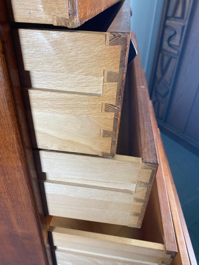 Mid-20th Century High Teak 7- Drawer Dresser by Borge Mogensen  Denmark, 1950s For Sale