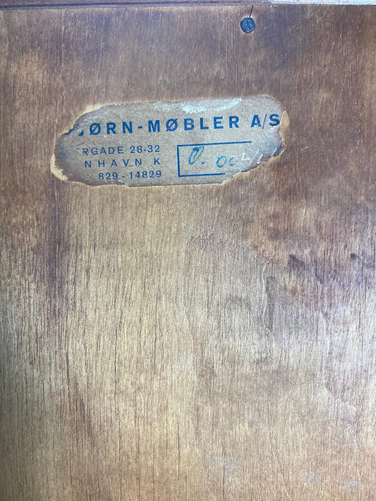 Birch High Teak 7- Drawer Dresser by Borge Mogensen  Denmark, 1950s For Sale