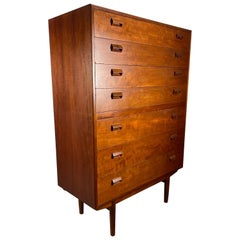 High Teak 7- Drawer Dresser by Borge Mogensen  Denmark, 1950s